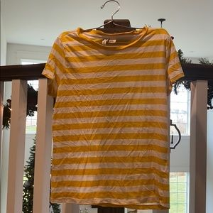 H&M Divided Yellow Striped Tee